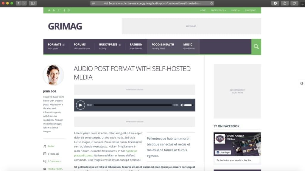 Grimag WordPress Theme Example Image