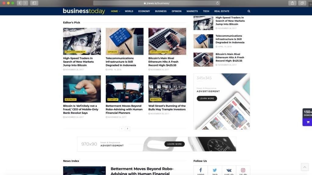 JNews News WordPress Theme Example Image
