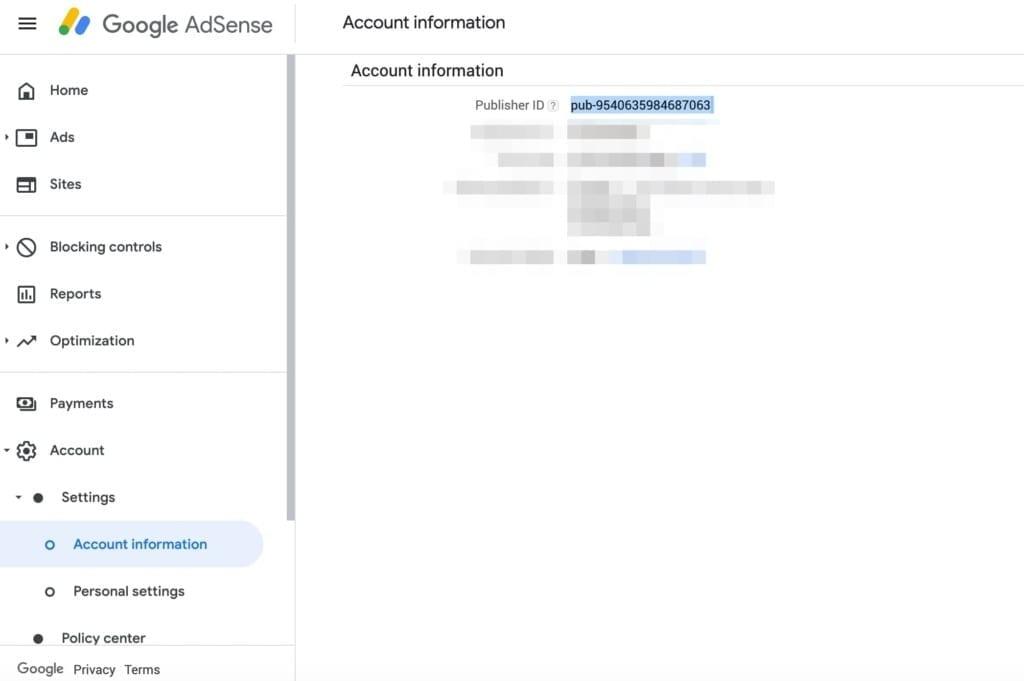 Google Adsene Publisher ID