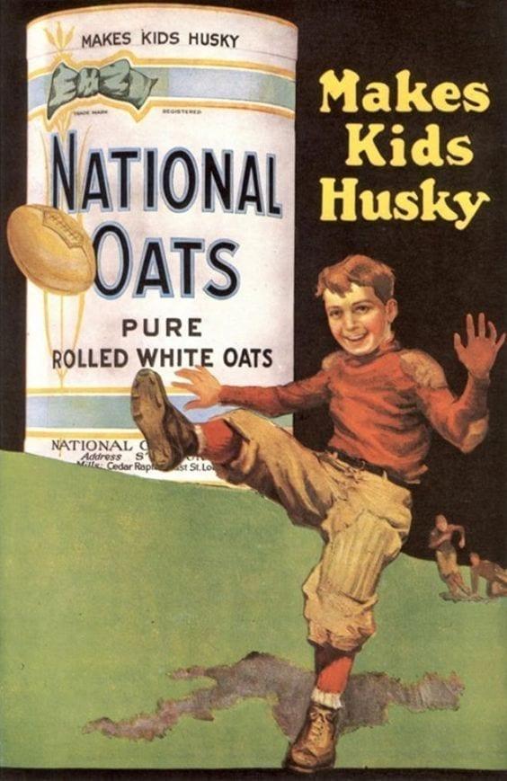 Makes Kids Husky National Oats Ad Banner