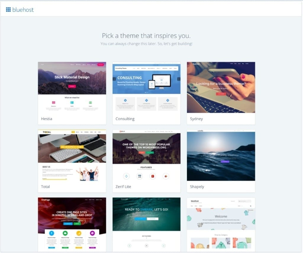 Bluehost Theme