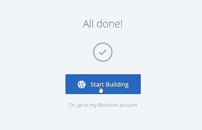 Start Building Page