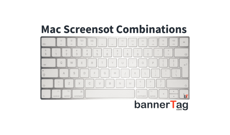 Mac Print Screen (Screenshot) combination tutorial by bannertag.com