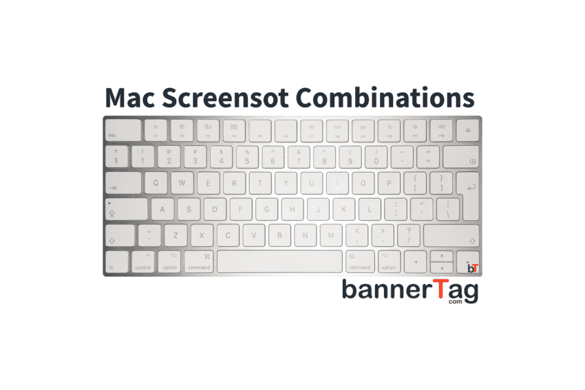 Mac Print Screen (Screenshot) combination tutorial by bannertag.com