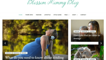Blossom Mommy WordPress Theme Mommy Blogger