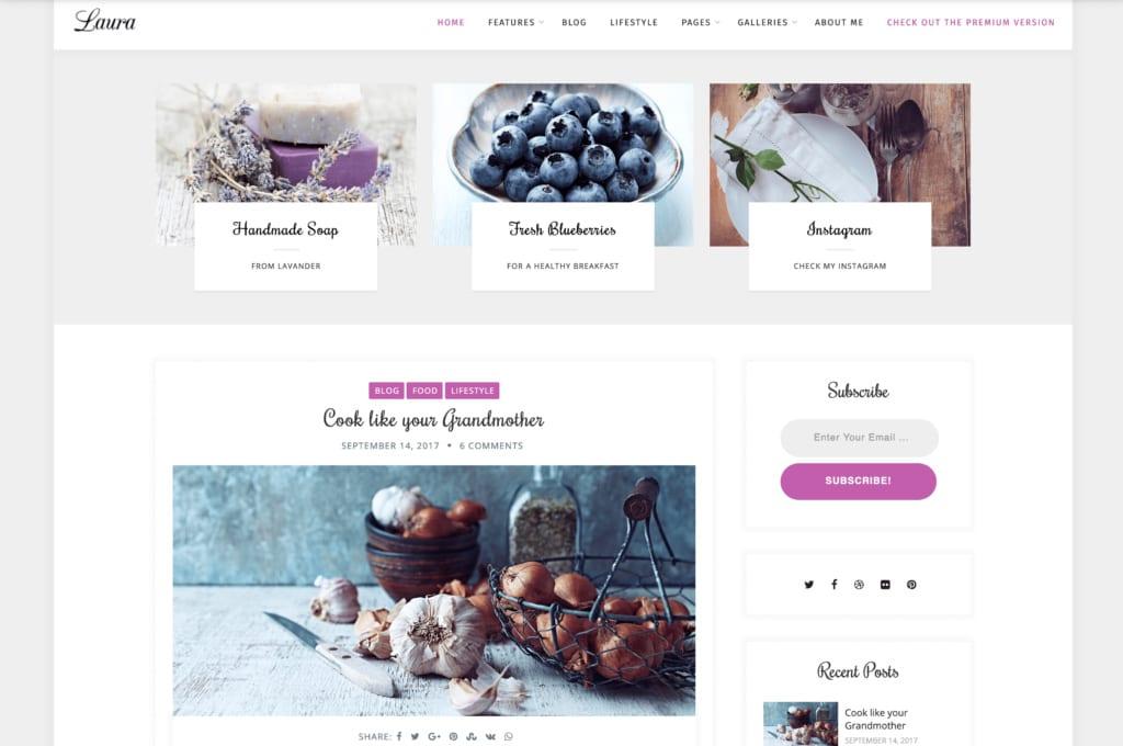 Laura WordPress Theme Mommy Blogger