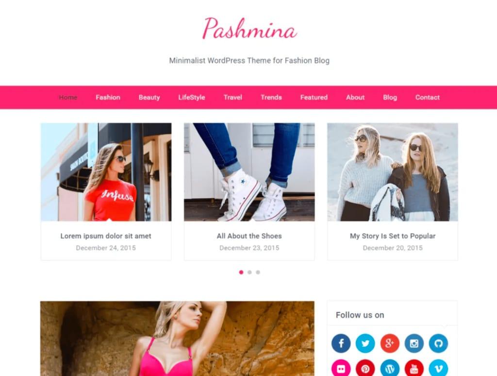 Pashmina WordPress Theme Mommy Blogger
