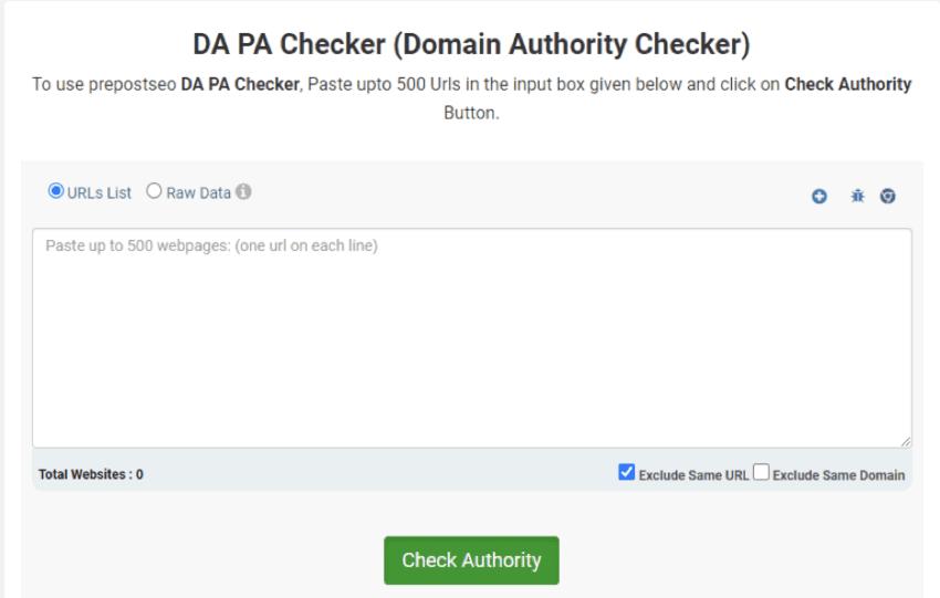 DA PA SEO Checker